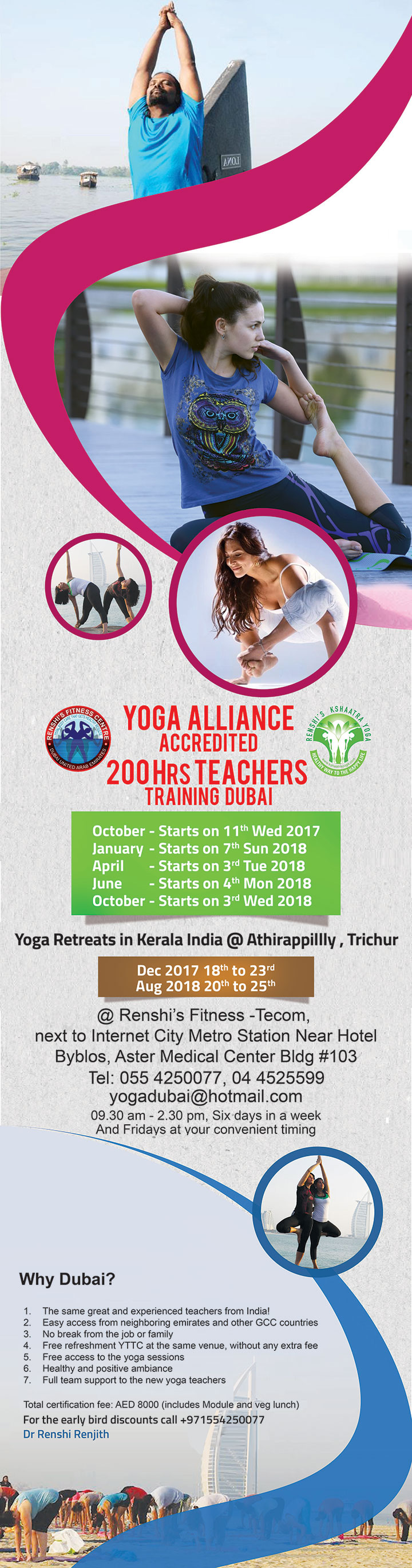 Yoga teacher training class in Dubai 2016, UAE